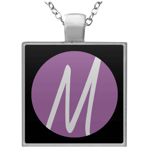 MM (icon) Square Necklace Jewelry- Warrior Design Co. | Quality Affordable Branding Solutions