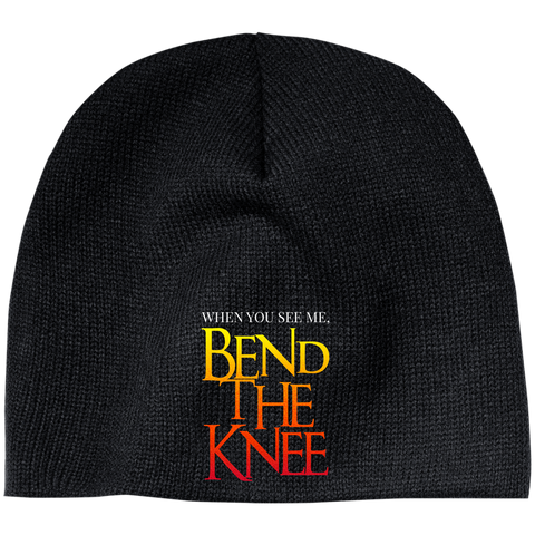 Bend the Knee Beanie Hats- Warrior Design Co. | Quality Affordable Branding Solutions