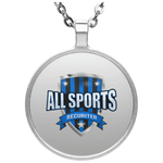 All Sports Recruiter Circle Necklace Jewelry- Warrior Design Co. | Quality Affordable Branding Solutions
