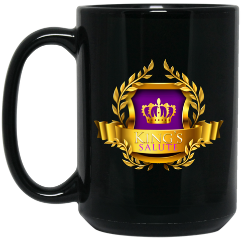King's Salute  15 oz. Black Mug Drinkware- Warrior Design Co. | Quality Affordable Branding Solutions