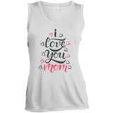 I Love You MomSleeveless Moisture Absorbing V-Neck T-Shirts- Warrior Design Co. | Quality Affordable Branding Solutions