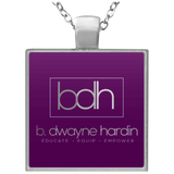 BDH Square Necklace Jewelry- Warrior Design Co. | Quality Affordable Branding Solutions