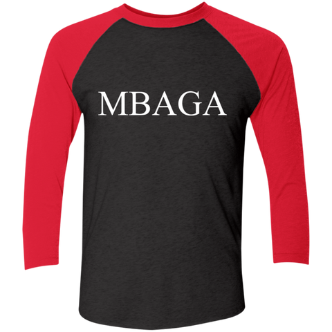 MBAG 3/4 Sleeve Baseball Raglan T-Shirt T-Shirts- Warrior Design Co. | Quality Affordable Branding Solutions