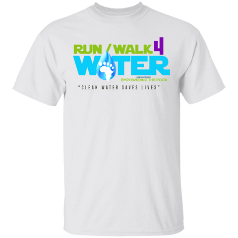 Run/Walk 4 Water 5.3 oz. T-Shirt T-Shirts- Warrior Design Co. | Quality Affordable Branding Solutions