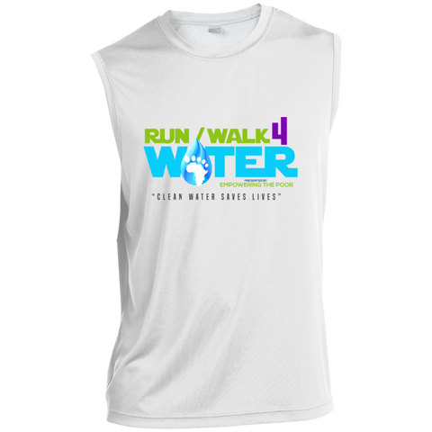 Run/Walk 4 Water Sleeveless Performance T-Shirt T-Shirts- Warrior Design Co. | Quality Affordable Branding Solutions