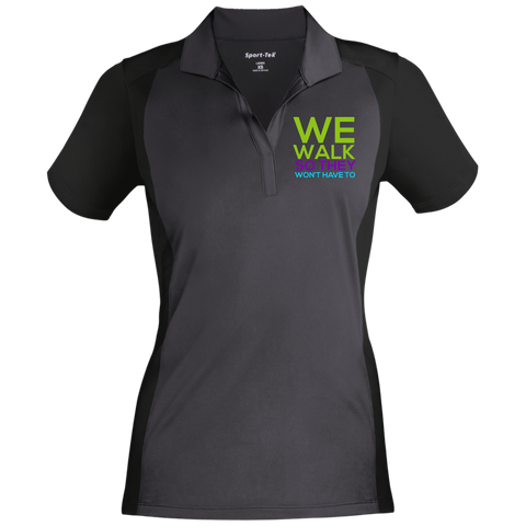 Run/Walk 4 Water Women's Sport-Wick Polo Polo Shirts- Warrior Design Co. | Quality Affordable Branding Solutions