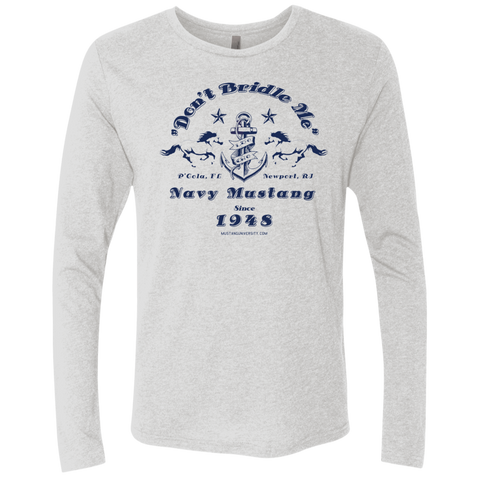 Mustang Men's Triblend LS Crew T-Shirts- Warrior Design Co. | Quality Affordable Branding Solutions