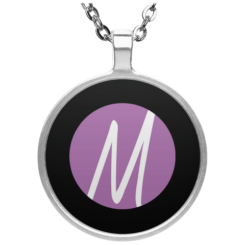 MM (icon) Circle Necklace Jewelry- Warrior Design Co. | Quality Affordable Branding Solutions