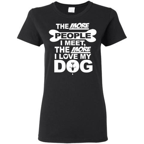 Dog > People Women's T-Shirt T-Shirts- Warrior Design Co. | Quality Affordable Branding Solutions