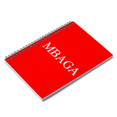 MBGA Spiral Notebook - Ruled Line Paper products- Warrior Design Co. | Quality Affordable Branding Solutions