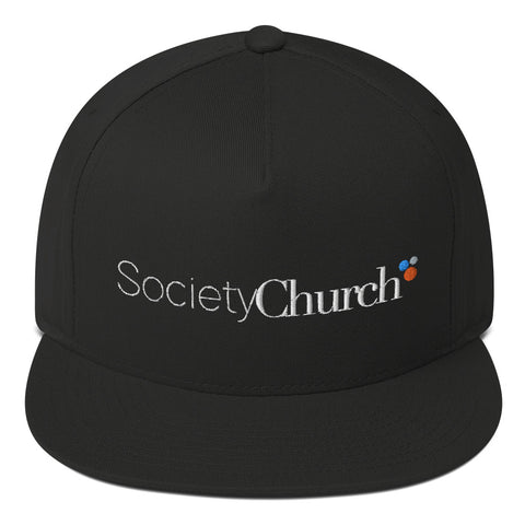 Society Church Flat Bill Cap - Warrior Design Co. | Quality Affordable Branding Solutions