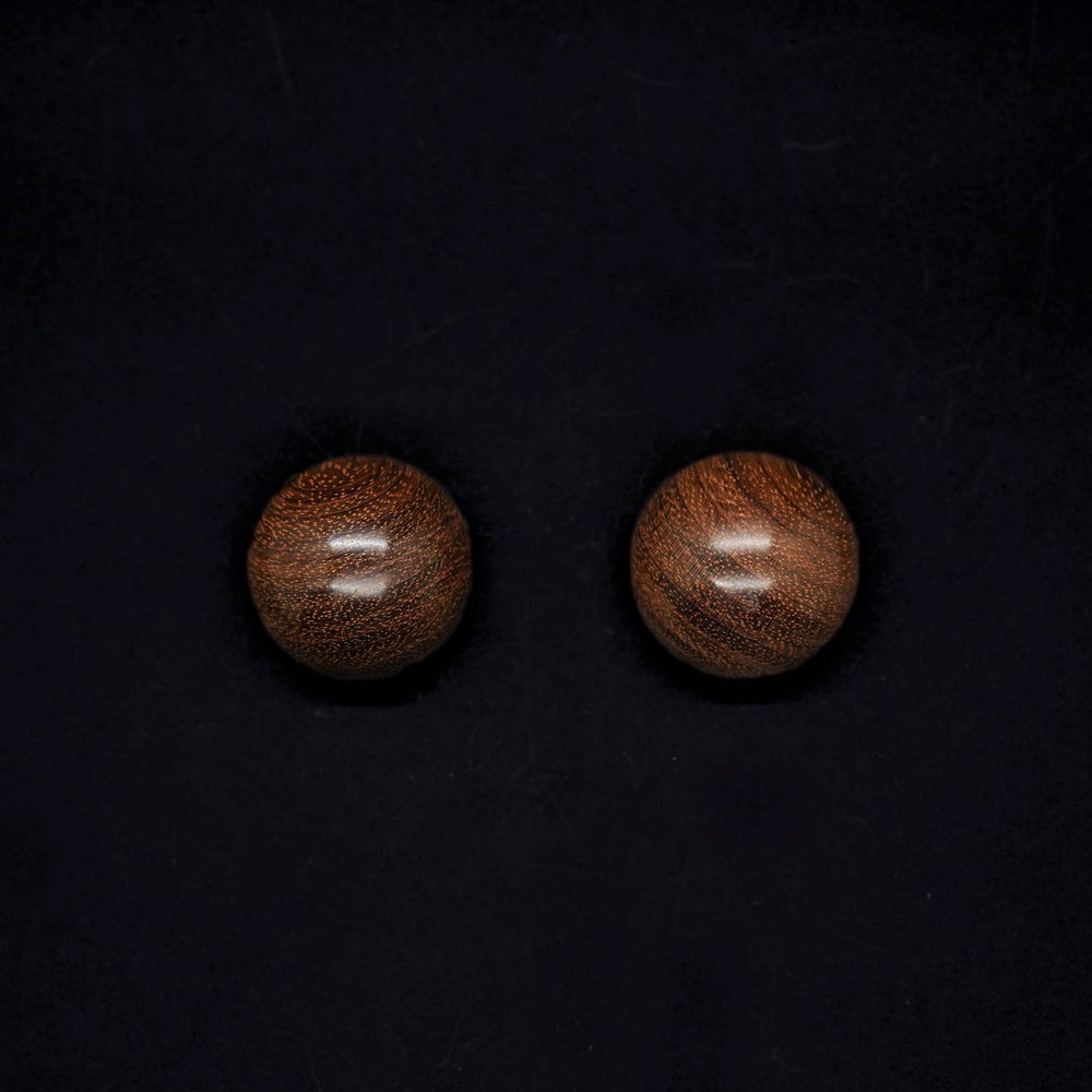 Gaia Giant Demi Sphere Stud Earrings - Silverwood Jewellery