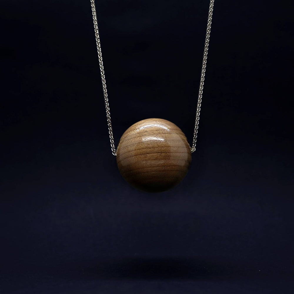 Gaia Giant 50mm Bead Pendant on Long Necklace - Silverwood Jewellery
