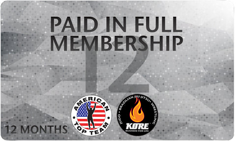 Pre Paid 12 Months All Access Membership for American Top Team Connecticut Only