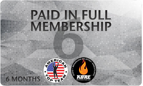 *SALE* Pre Paid 6 Months All Access Membership for American Top Team Connecticut Only