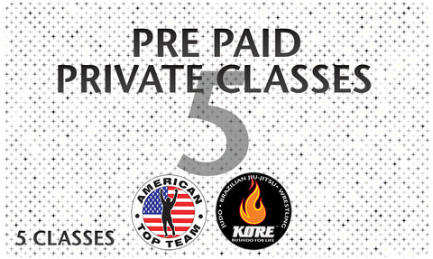 Pre Paid 5 Private Classes - American Top Team Connecticut Only