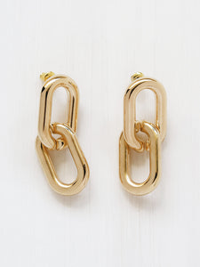 Common Muse Greta Chain Earrings in Gold