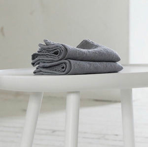 100% Linen Waffle Hand Towel in Natural
