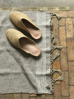 Grey Cotton Bath Mat