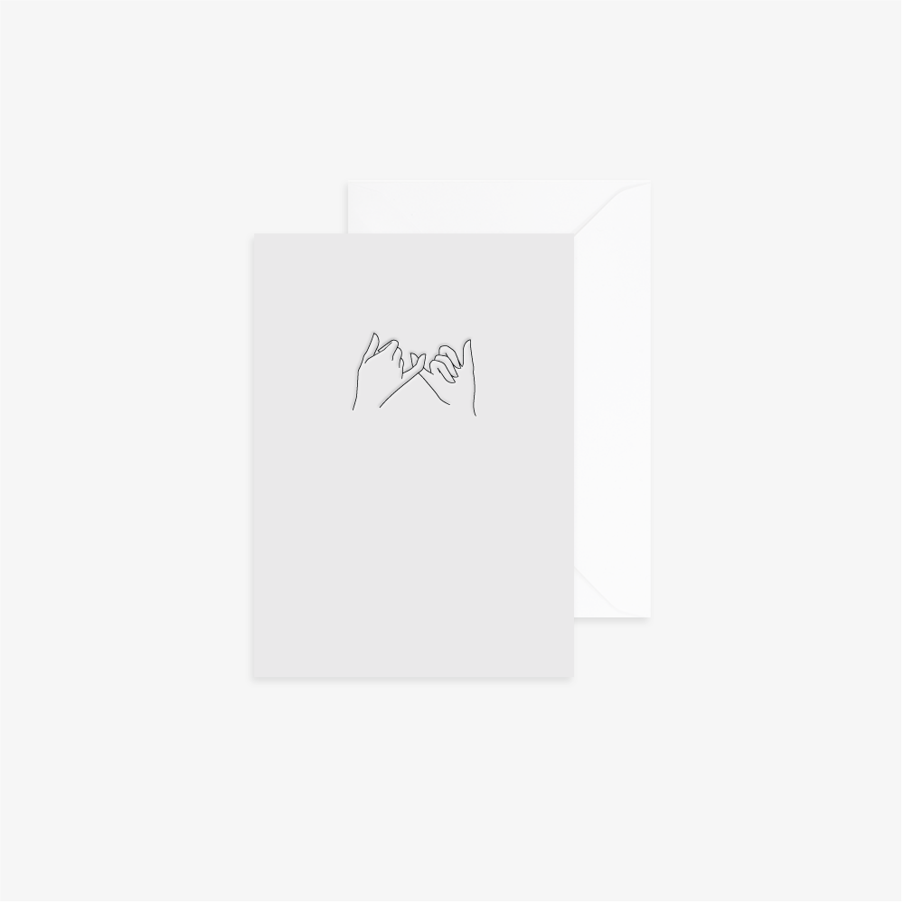 Pinky Promise Card by Reverie Studio