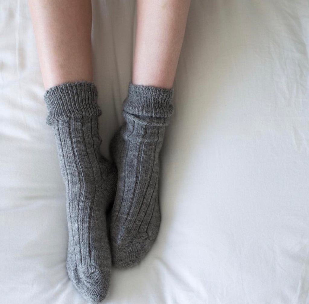 Grey Alpaca Socks by Tom Lane