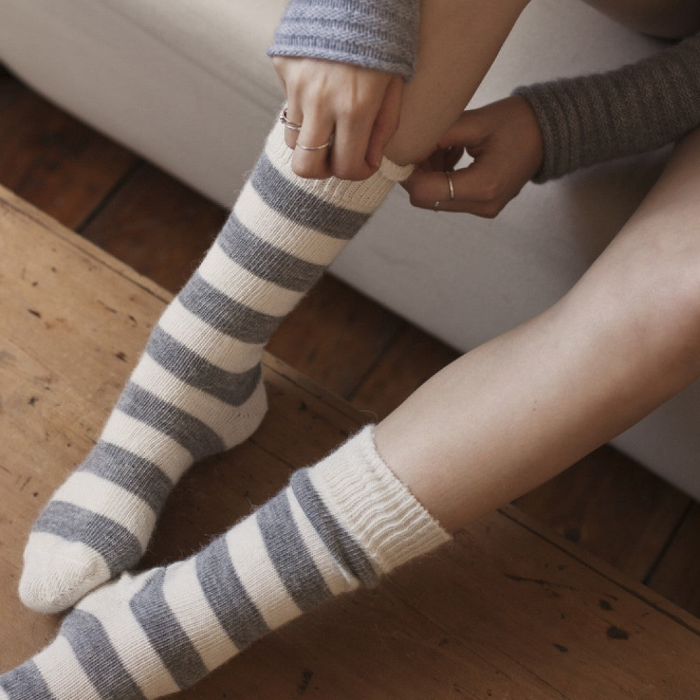 Striped Alpaca Socks by Tom Lane