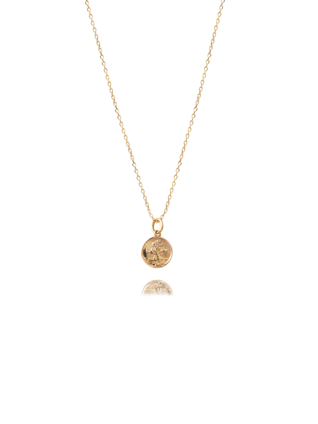 Small Gold St Christopher Necklace by Tilly Sveaas