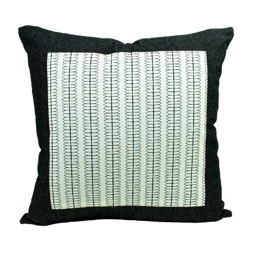 Black Denim + Mod Vines Throw Pillow