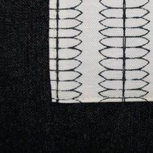 Load image into Gallery viewer, Black Denim + Mod Vines Table Runner (Large)