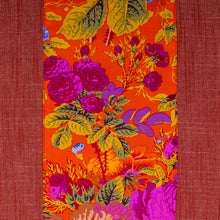 Load image into Gallery viewer, Ruby Denim + Orange Blossoms Table Runner (Medium)