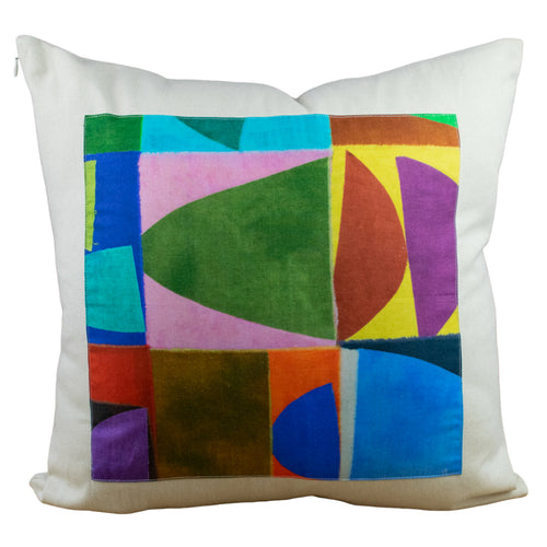 Salt Canvas + Urban Blocks Throw Pillow