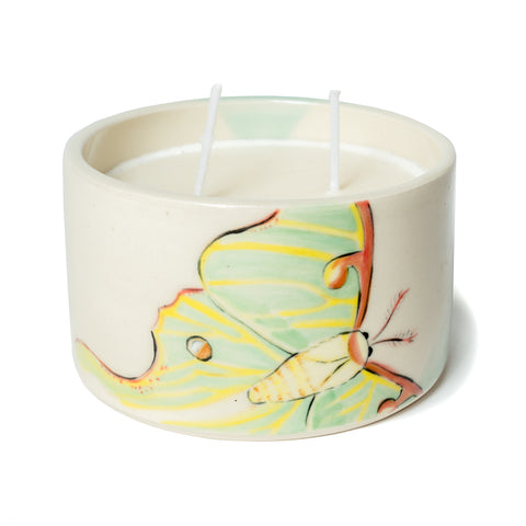 Luna moth candle cup