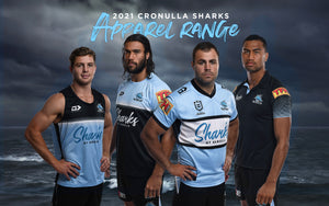 Cronulla Sharks 2021 Apparel Range by Dynasty Sport