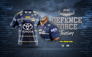 North Queensland Cowboys Defence Jersey by Dynasty Sport