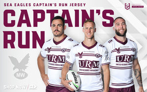 Manly Warringah Sea Eagles Captain's Run Jersey | 2021 National Rugby League Supporters Range | Dynasty Sport NRL Apparel