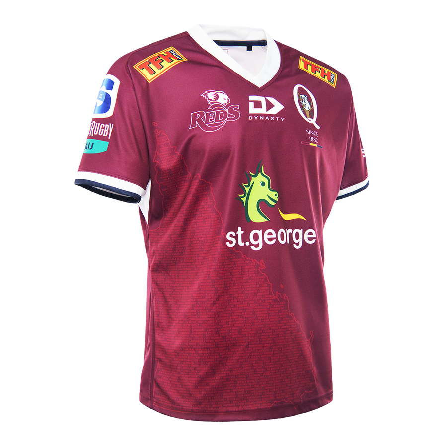 Queensland Reds Rugby 2021 Mens Home Jersey by Dynasty Sport