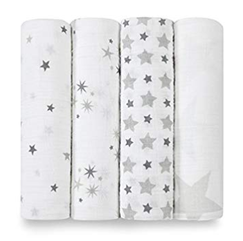Aden & Anais Classic Swaddle 4-Pack (GR)