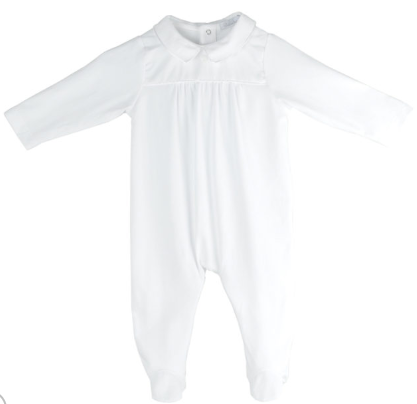 AH White Pure Cotton Babygro (GR)