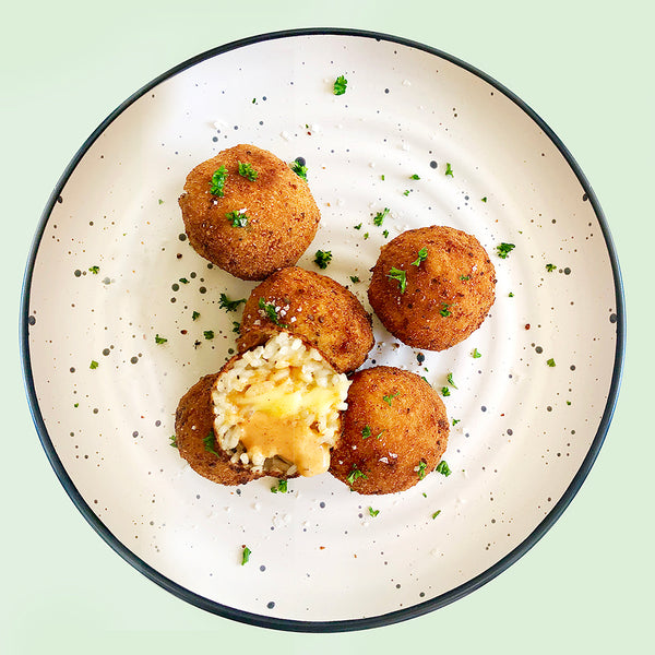 Spicy Arancini Balls with Dibble Chipotle Mayo