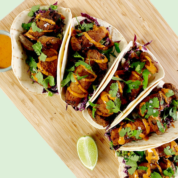 Triple-fried Mushroom Tacos with Dibble Chipotle Mayo