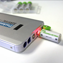 Load image into Gallery viewer, EASYPOWER Usb Rechargeable AA Batteries