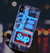 Load image into Gallery viewer, Discount now $20! Superhero Induction Light Phone Case - Super Cool Phone Cases!( Black Friday Crazy Sale Big Discount!)