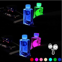 Load image into Gallery viewer, (Worldwide Free Shipping )7 Colors Led Changing USB Charging Car Logo Cup Lights up Holder