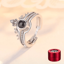 "Load image into Gallery viewer, 100 Languages ""I LOVE YOU"" Ring,Necklace(Ring is adjustable)"