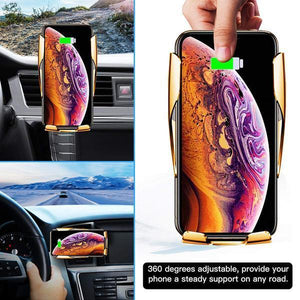 Wireless Automatic Sensor Car Phone Holder and Charger- Buy 2 Free Shipping