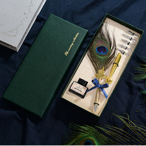Feather Dip Pen Gift Set