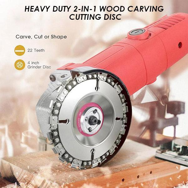 Heavy Duty 2-in-1 Wood Carving Cutting Disc