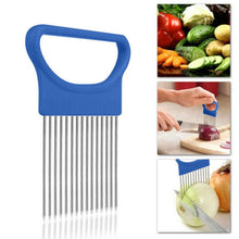Load image into Gallery viewer, Clever Vegetable Holder and Slicer Blue