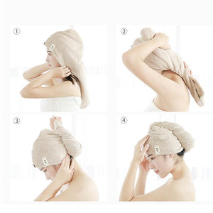 Water Absorbent Dry Hair Cap(Buy 1 get 1 free)