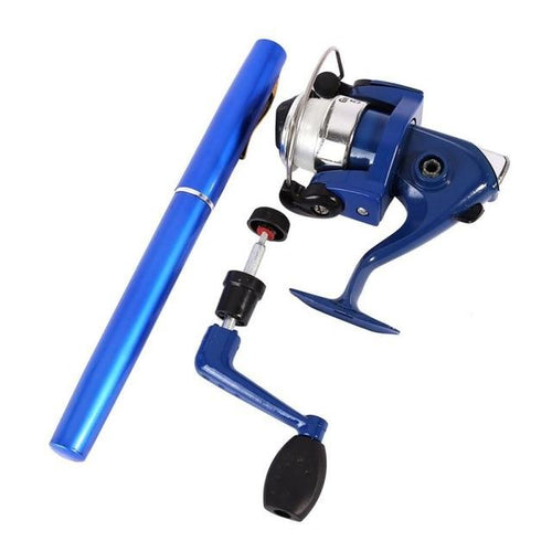 Portable Mini Pocket Pen Fishing Rod + Reel